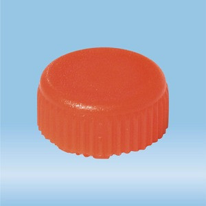 Screw cap, orange, sterile, suitable for screw cap micro tubes