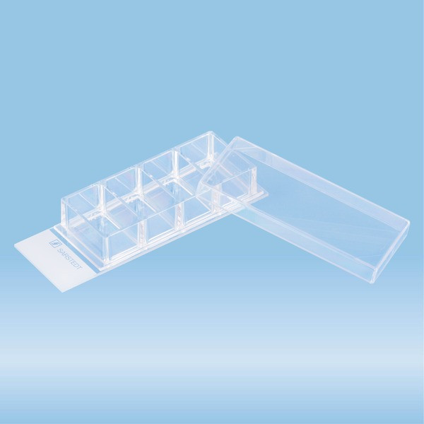 x-well cell culture chamber, 4-well, on glass slide, removable frame