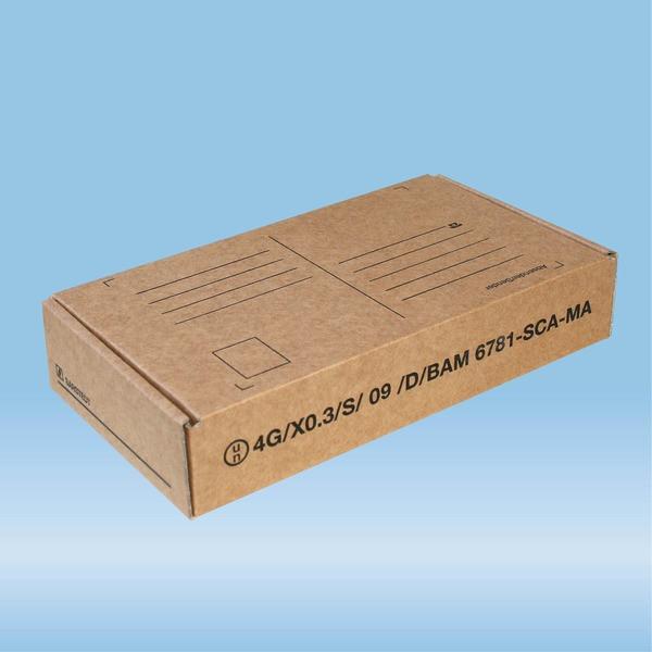 Post transport packaging, 198 x 107 x 38 mm, for diagnostic specimens