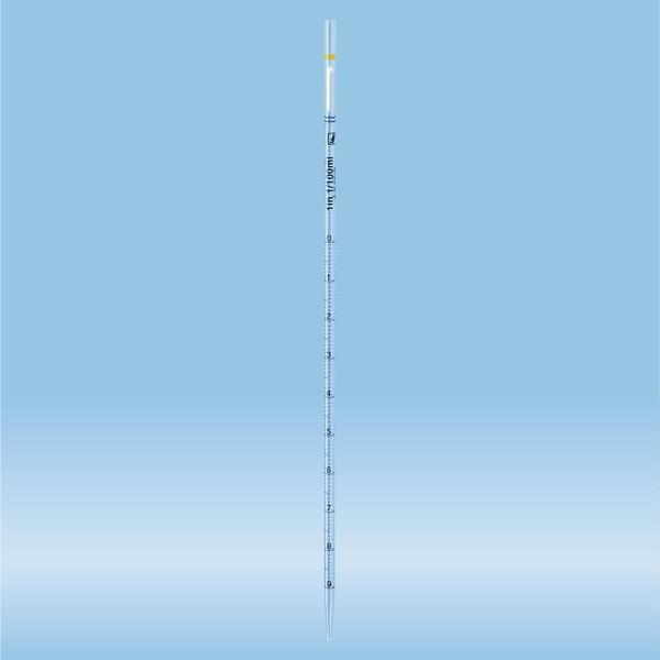 Serological pipette, plugged, 1 ml, sterile, non-pyrogenic/endotoxin-free, non-cytotoxic, 1 piece(s)