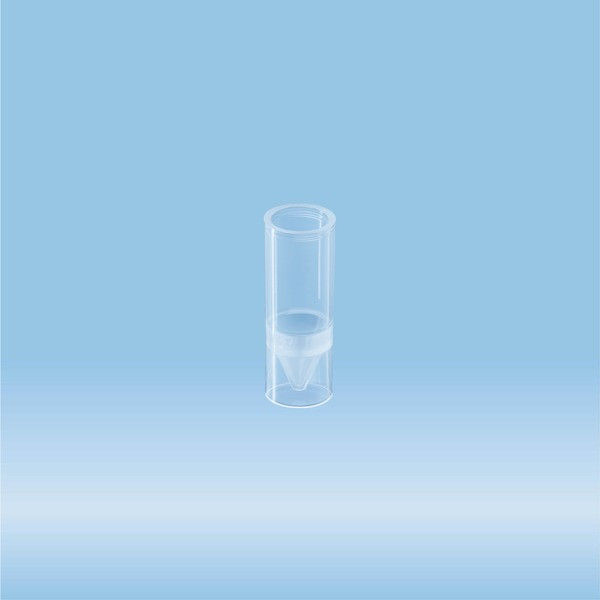 RIA tube, suitable for gamma counters, transparent