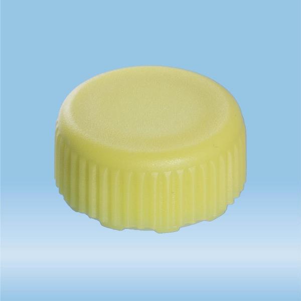 Screw cap, yellow, suitable for screw cap micro tubes