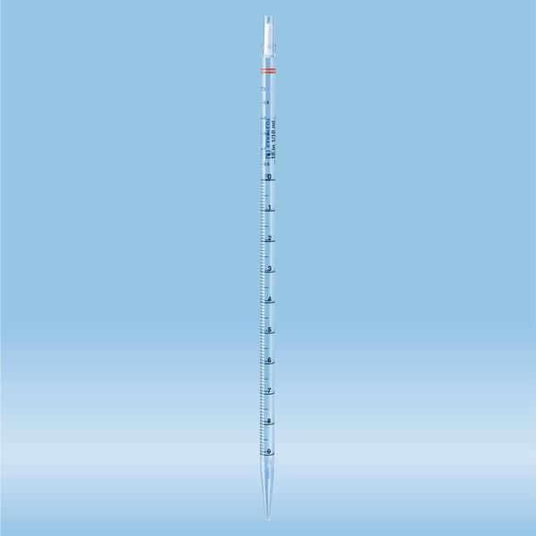 Serological pipette, plugged, 10 ml, sterile, non-pyrogenic/endotoxin-free, non-cytotoxic, 1 piece(s