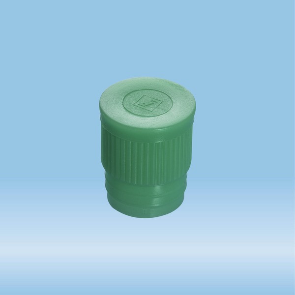 Push cap, green, suitable for tubes Ø 16-17 mm