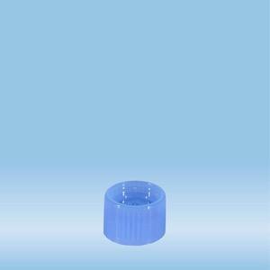 Screw cap, blue, suitable for tubes Ø 15.3 mm