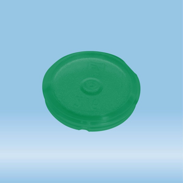 Colour-coded inserts, green, PP, suitable for screw caps 65.712.xxx