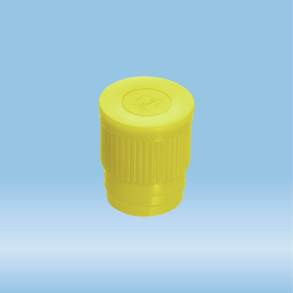 Push cap, yellow, suitable for tubes Ø 16-17 mm