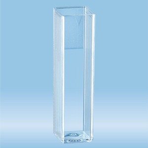 Cuvette, 4 ml, (HxW): 45 x 12 mm, PS, transparent, optical sides: 2