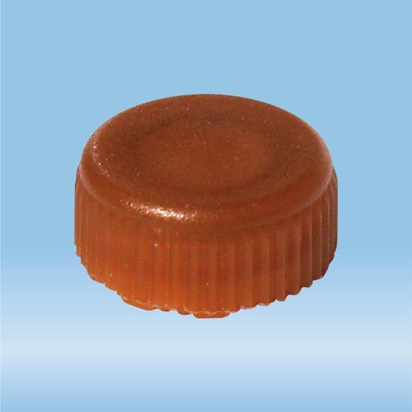 Screw cap, brown, sterile, suitable for screw cap micro tubes
