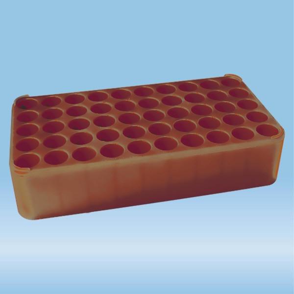 S-Monovette® rack D17, Ø opening: 17 mm, 10 x 5, brown