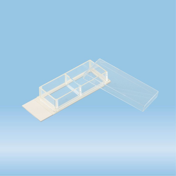 x-well cell culture chamber, 2-well, on lumox® slide, removable frame