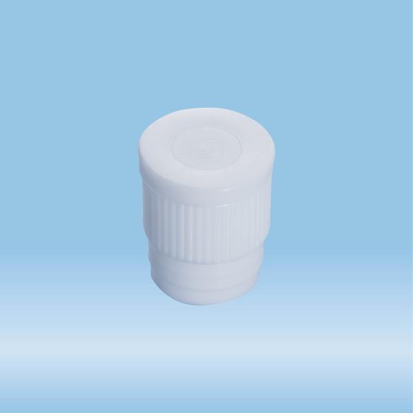 Push cap, white, suitable for tubes Ø 16-17 mm