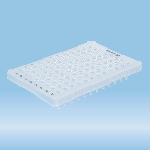 PCRplate half skirt, 96 well, transparent, High Profile, 200 µl, Biosphere® plus, PP