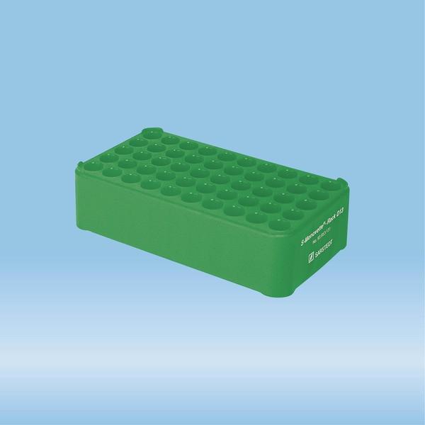S-Monovette® rack D13, Ø opening: 13 mm, 10 x 5, green