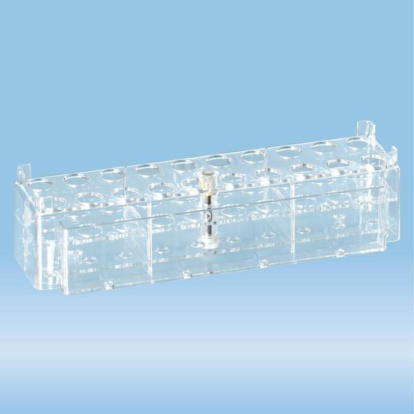 Rack, PC, format: 10 x 2, suitable for tubes, all S-Monovette diameters