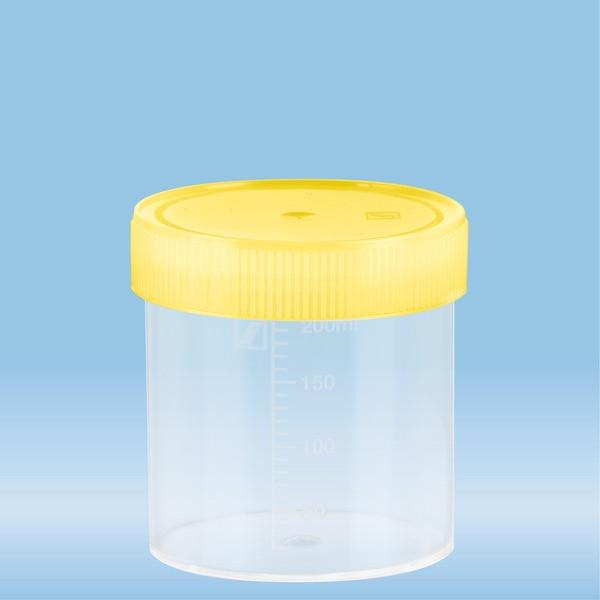 Multi-purpose container, 250 ml, (ØxH): 70 x 78 mm, graduated, PP