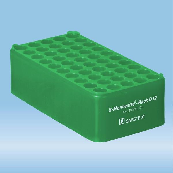 S-Monovette® rack D12, Ø opening: 12 mm, 10 x 5, green
