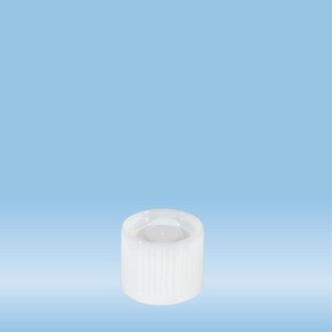 Screw cap, white, suitable for tubes Ø 16-16.5 mm