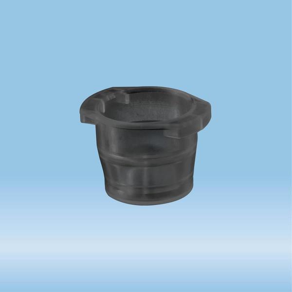Cap, black, suitable for tubes Ø 10-17 mm