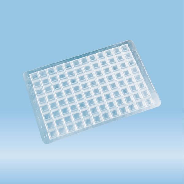 Closure mat, for Deep Well MegaBlock® 2.2ml (82.1972.002), (LxW): 79 x 121 mm, EVA, transparent