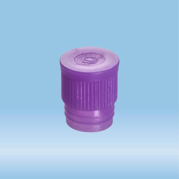 Push cap, violet, suitable for tubes Ø 16-17 mm