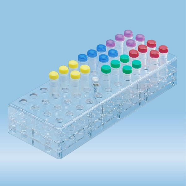 Rack, PC, suitable for screw cap micro tubes