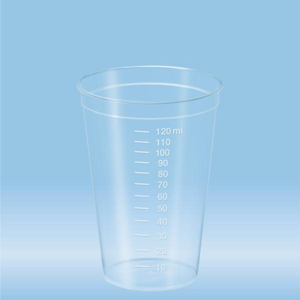 Multi-purpose container, 125 ml, (ØxH): 62 x 85 mm, graduated, PP