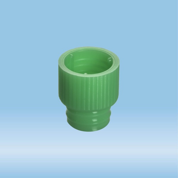 Push cap, green, suitable for tubes Ø 12 mm