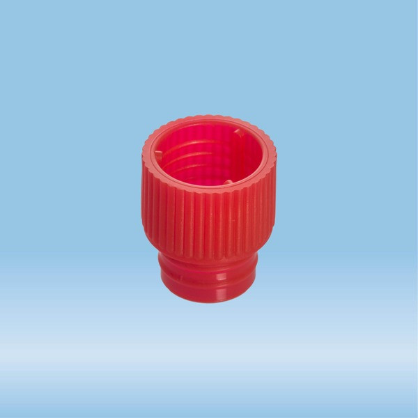 Push cap, red, suitable for tubes Ø 12 mm