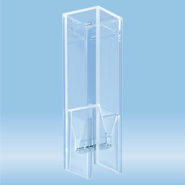 UV cuvette, 0.5 ml, (HxW): 45 x 12 mm, Special plastic, transparent, optical sides: 2