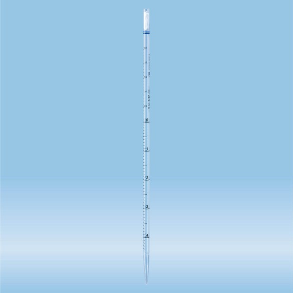 Serological pipette, plugged, 5 ml, sterile, non-pyrogenic/endotoxin-free, non-cytotoxic, 1 piece(s)