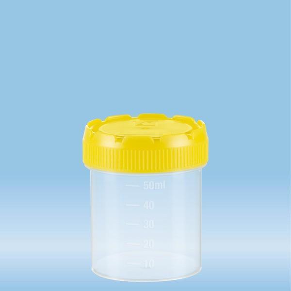 Multi-purpose container, 70 ml, (ØxH): 44 x 55 mm, graduated, PP