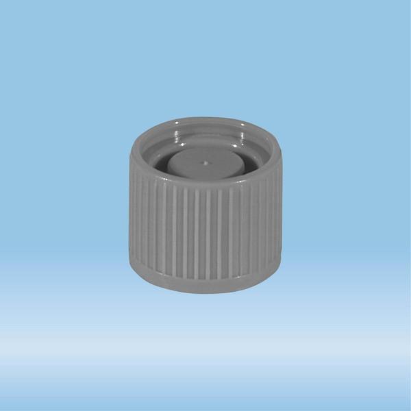 Screw cap, grey, suitable for tubes Ø 16-16.5 mm
