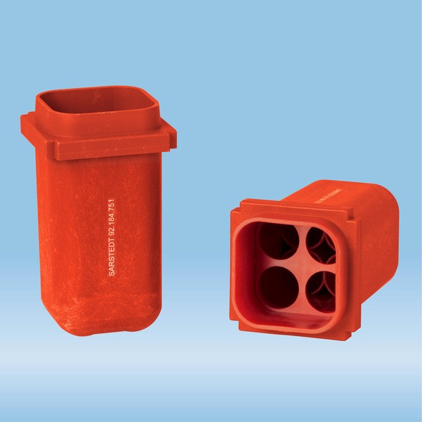 Tube holder, LC 24, red, for tubes up to 100 mm