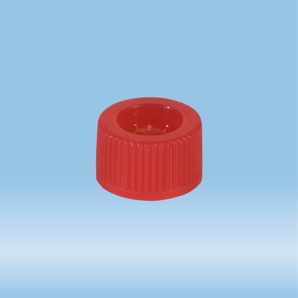 Screw cap, red, suitable for tubes 82 x 13 mm