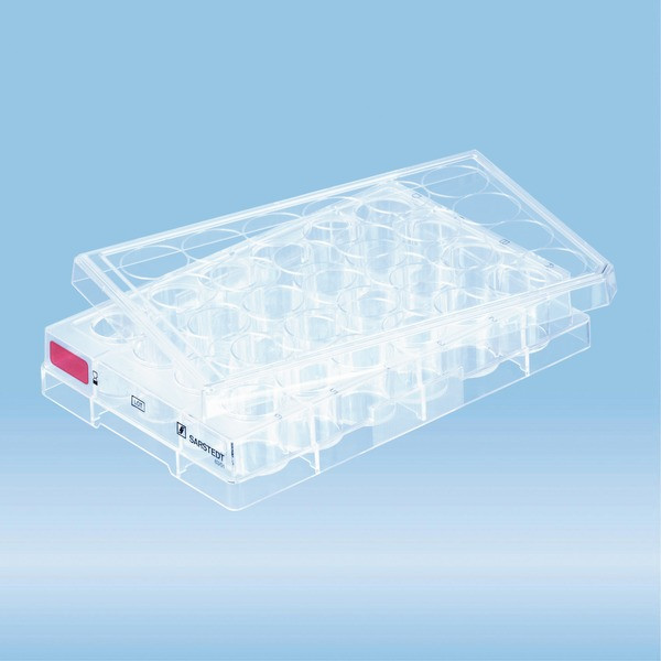 Cell culture plate, 24 well, surface: Standard, flat base