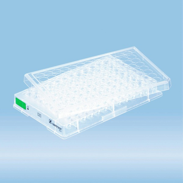Cell culture plate, 96 well, surface: Suspension, round base