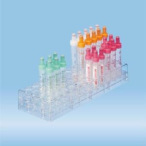 Rack, PC, suitable for tubes, S-Monovettes 13 mm Ø
