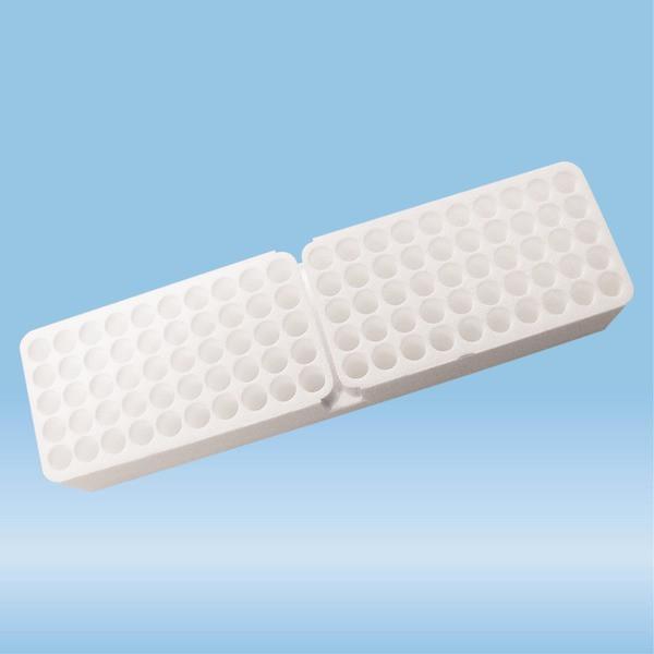 Rack, Styrofoam, suitable for S-Monovettes Ø 11 mm
