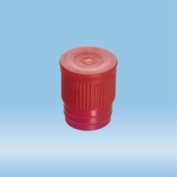 Push cap, red, suitable for tubes Ø 16-17 mm
