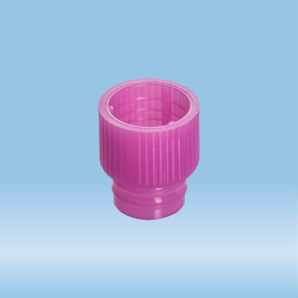 Push cap, pink, suitable for tubes Ø 13 mm