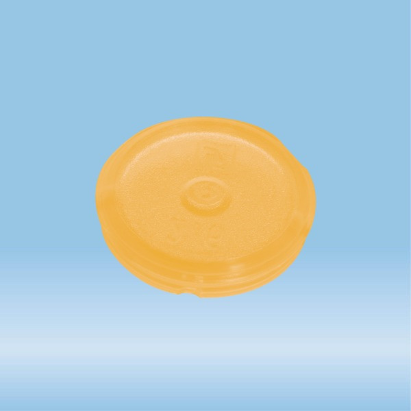 Colour-coded inserts, yellow, PP, suitable for screw caps 65.712.xxx