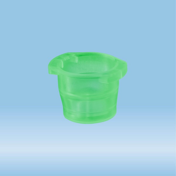 Cap, green, suitable for tubes Ø 10-16 mm
