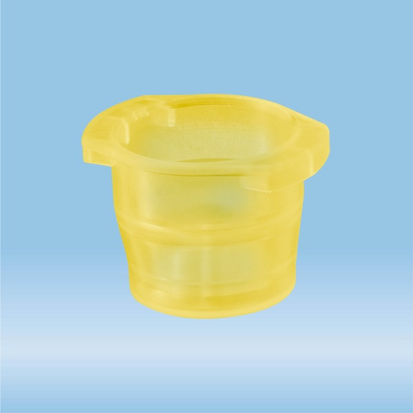 Cap, yellow, suitable for tubes Ø 12-17 mm