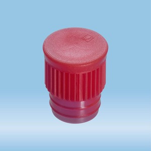 Push cap, red, suitable for tubes Ø 15.7 mm