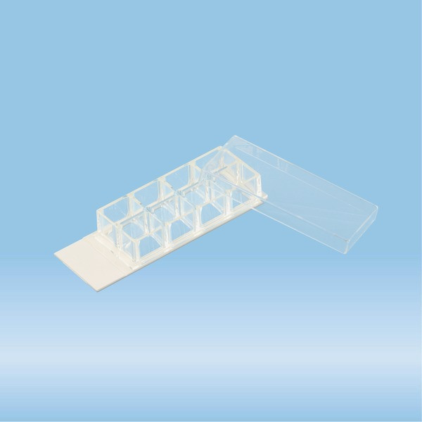 x-well cell culture chamber, 8-well, on lumox® slide, removable frame