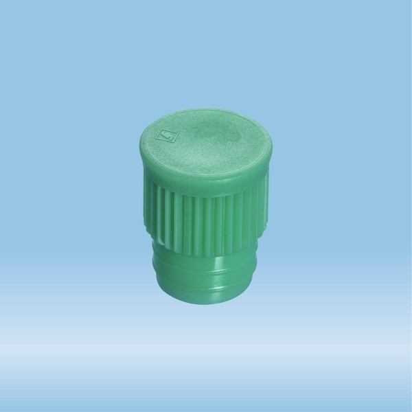 Push cap, green, suitable for tubes Ø 15.7 mm