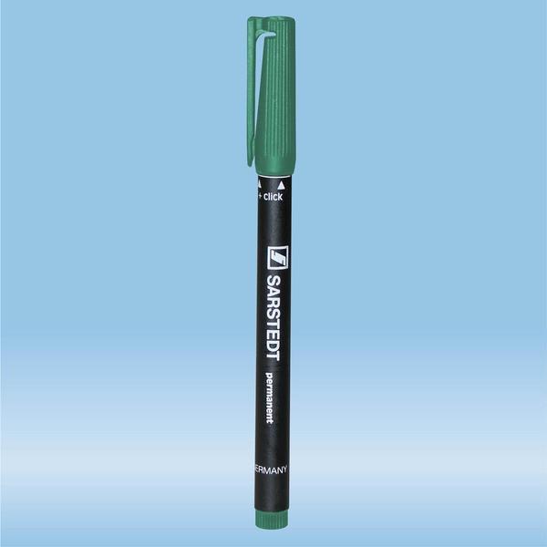 Felt marker, green, waterproof