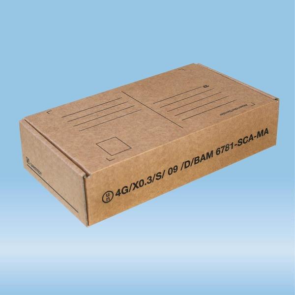 Post transport packaging, 107 x 198 x 50 mm, for diagnostic specimens
