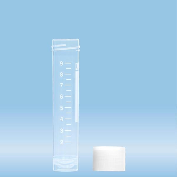 Screw cap tube, 10 ml, (LxØ): 79 x 16 mm, PP, with print